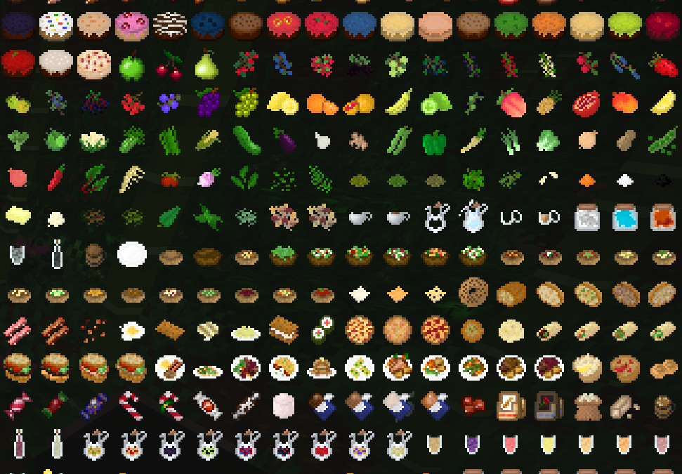 Fruits, vegetables and herbs